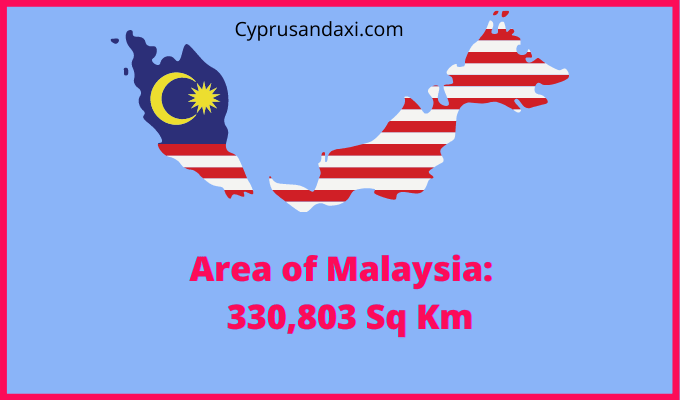 Area of Malaysia compared to the area of the United States of America