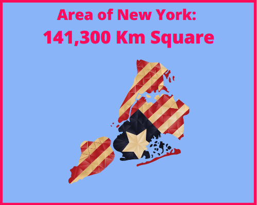 Area of New York compared to Portugal