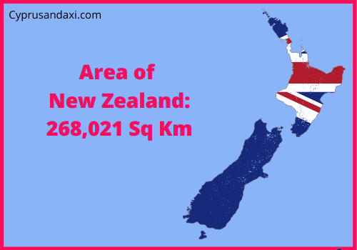 Area of New Zealand compared to the area of the United States of America