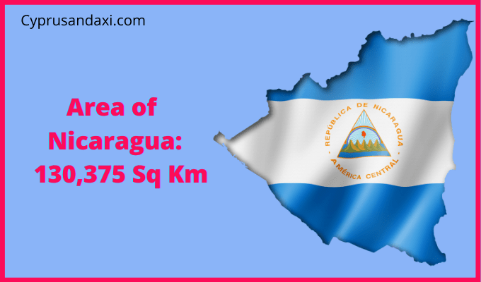Area of Nicaragua compared to the area of the United States of America
