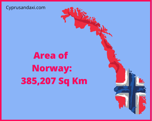 Area of Norway compared to the area of the United States of America