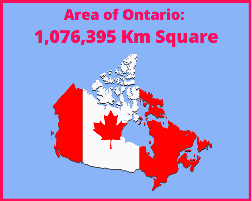 Area of Ontario compared to Portugal
