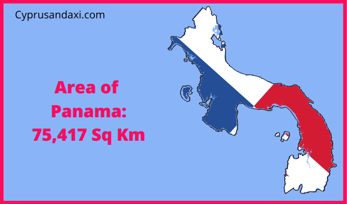 Area of Panama compared to the area of the United States of America