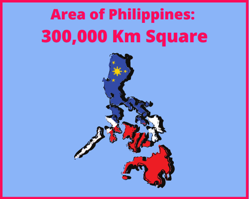 Area of Philippines compared to Portugal