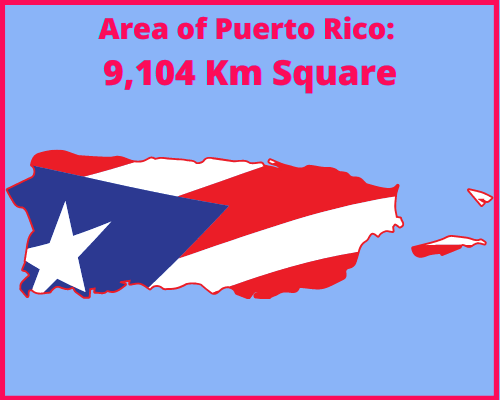 Area of Puerto Rico compared to Portugal