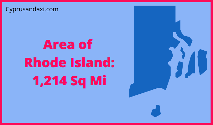 Area of Rhode Island compared to Houston Texas