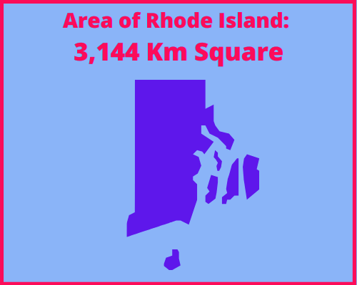 Area of Rhode Island compared to Portugal