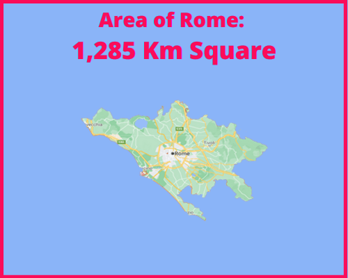 Area of Rome compared to Portugal