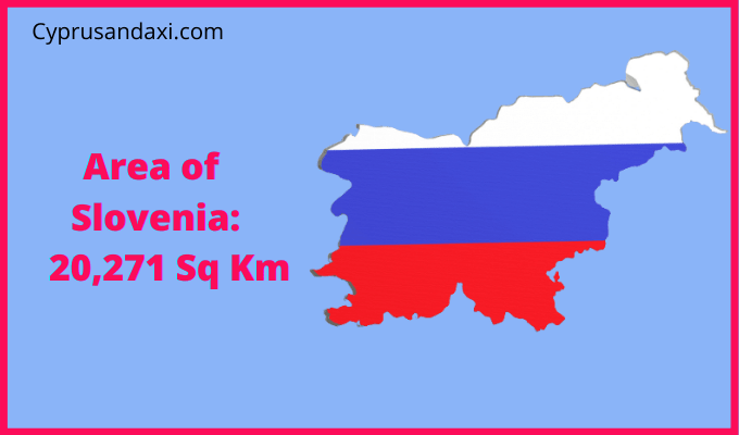 Area of Slovenia compared to the area of the United States of America