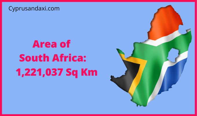 Area of South Africa compared to the area of the United States of America