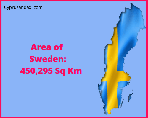 Area of Sweden compared to the area of the United States of America