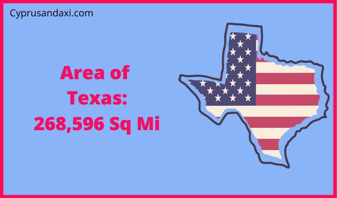 Area of Texas compared to Colorado
