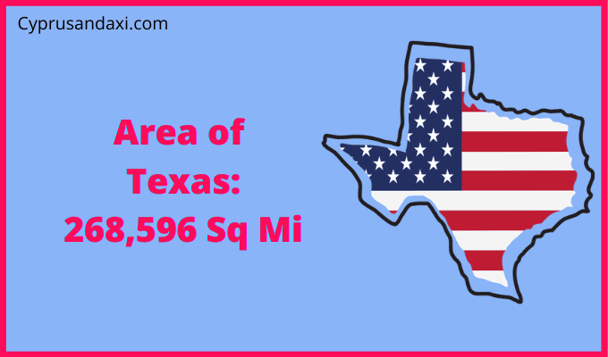 Area of Texas compared to Connecticut