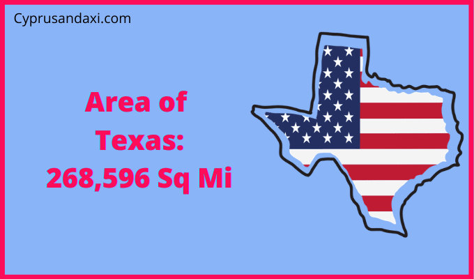 Area of Texas compared to Germany