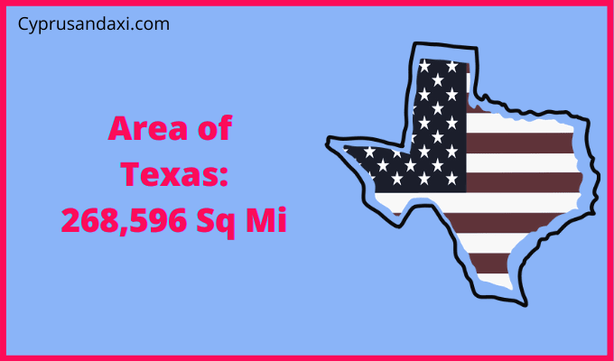 Area of Texas compared to Hawaii