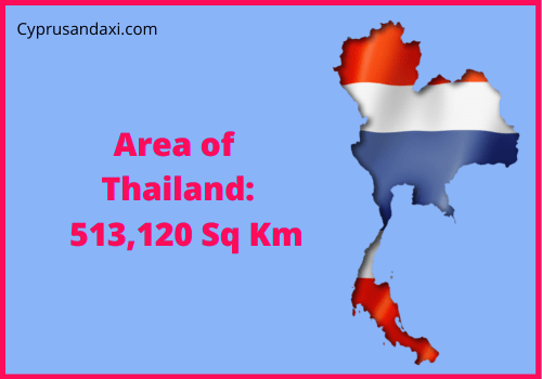 Area of Thailand compared to the area of the United States of America
