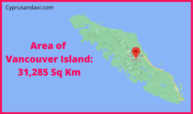Area of Vancouver Island compared to the area of the United States of America