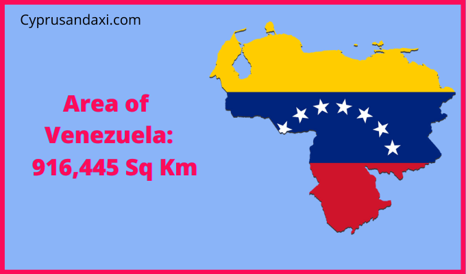 Area of Venezuela compared to the area of the United States of America
