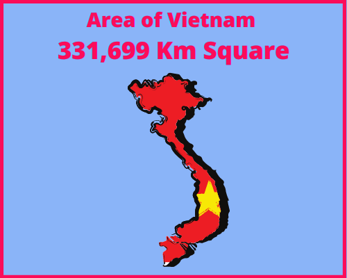 Area of Vietnam compared to Portugal