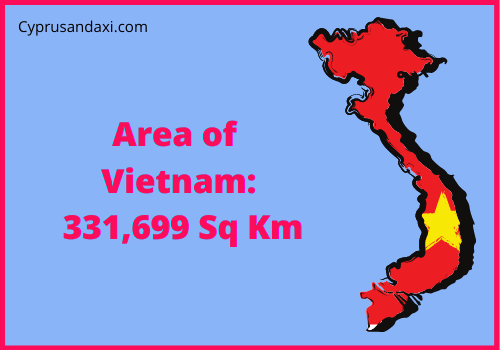 Area of Vietnam compared to the area of the United States of America
