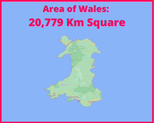 Area of Wales compared to Portugal