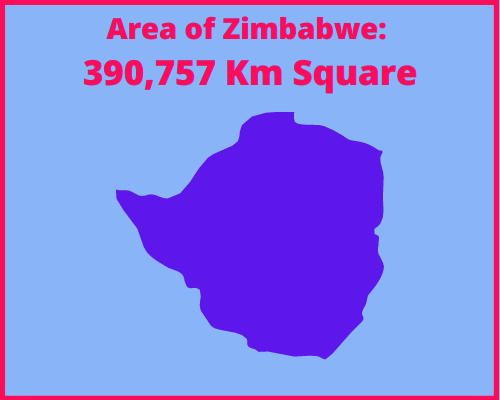 Area of Zimbabwe compared to Portugal