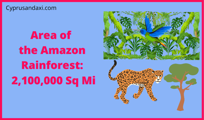 Area of the Amazon Rainforest compared to Texas