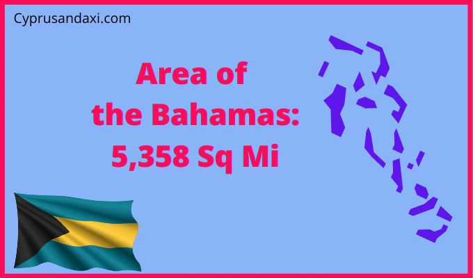 Area of the Bahamas compared to the USA