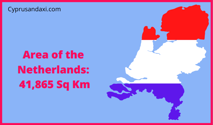 Area of the Netherlands compared to the area of the United States of America