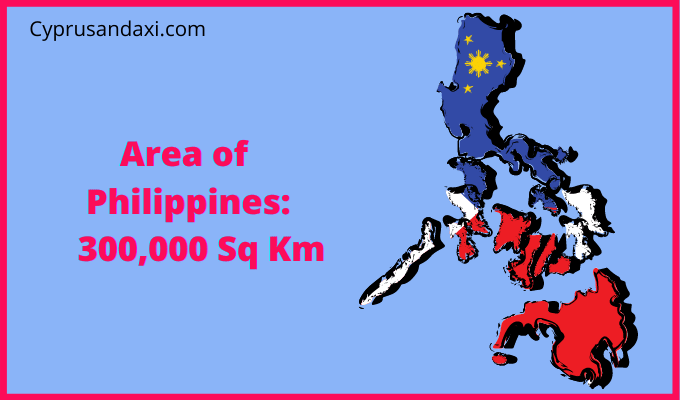 Area of the Philippines compared to the area of the United States of America
