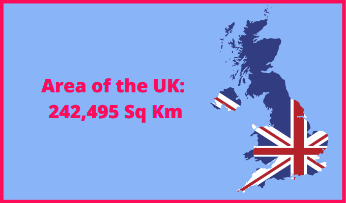 Area of the UK compared to the area of the United States of America
