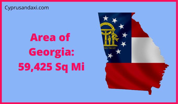 Area of the US state Georgia compared to Texas