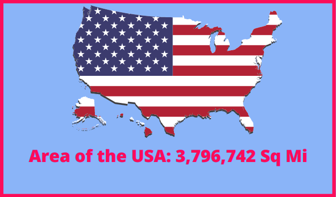 Area of the USA compared to Czech Republic