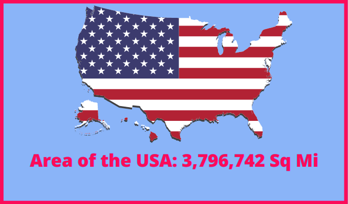 Area of the USA compared to England