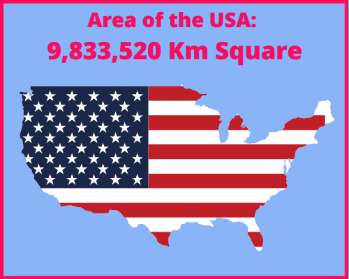 Area of the USA compared to Portugal