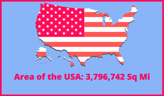 Area of the USA compared to Serbia