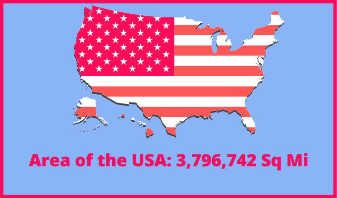 Area of the United States of America compared to Bahamas