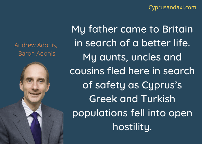 Cyprus quote by Andrew Adonis, Baron Adnois