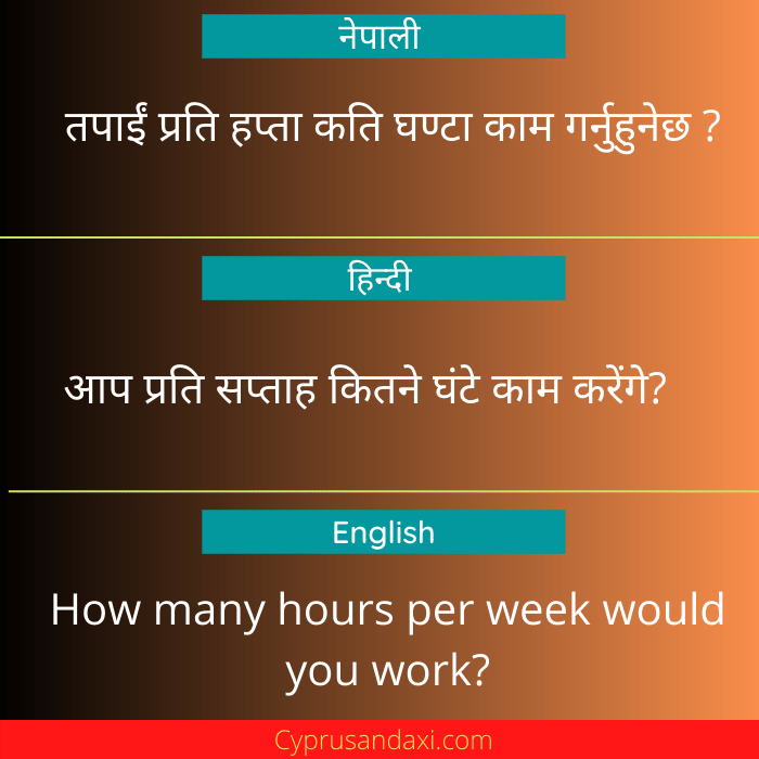 How many hours per week would you work