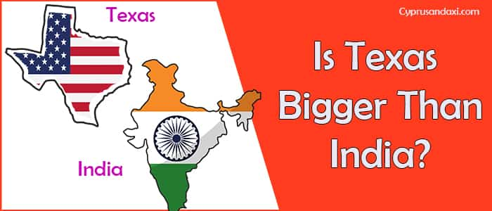 Is Texas Bigger than India