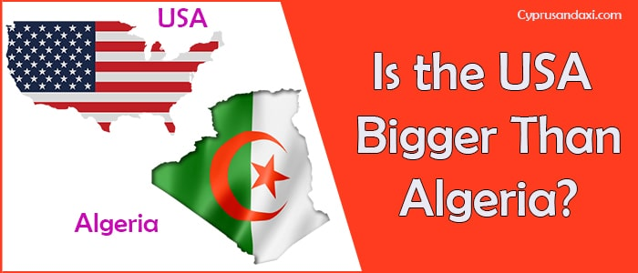 Is the United States of America Bigger Than Algeria