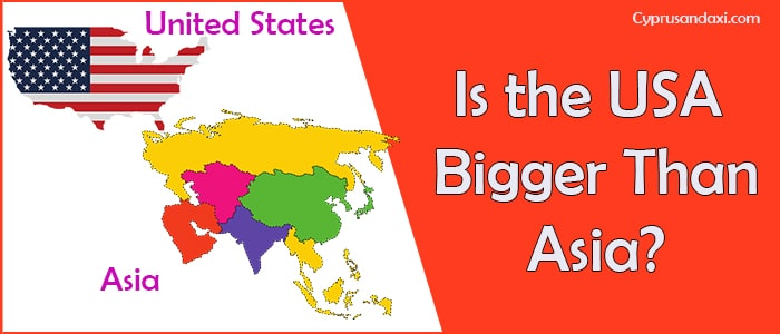 Is the United States of America Bigger Than Asia