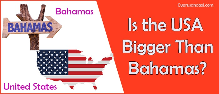 Is the United States of America Bigger Than Bahamas