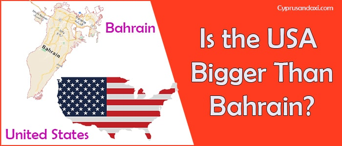 Is the United States of America Bigger Than Bahrain