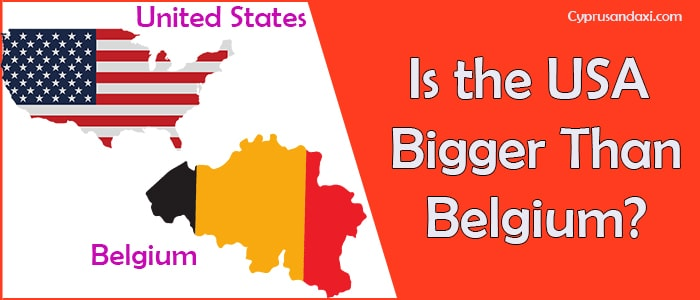 Is the United States of America Bigger Than Belgium