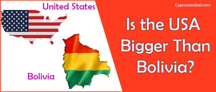 Is the United States of America Bigger Than Bolivia