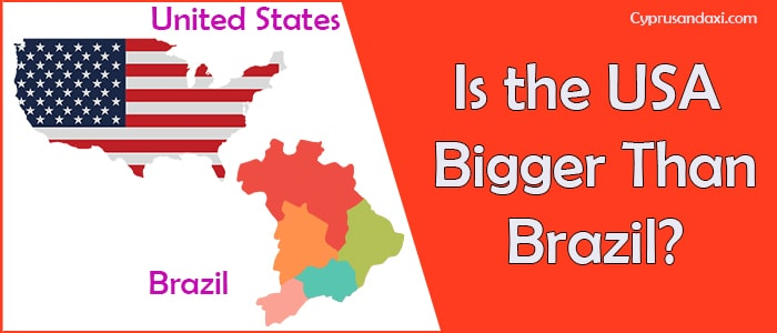 Is the United States of America Bigger Than Brazil