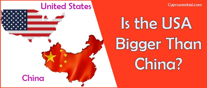 Is the United States of America Bigger Than China