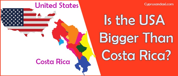 Is the United States of America Bigger Than Costa Rica