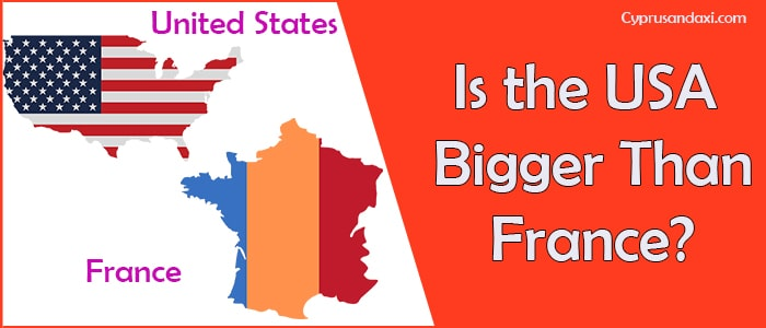 Is the United States of America Bigger Than France